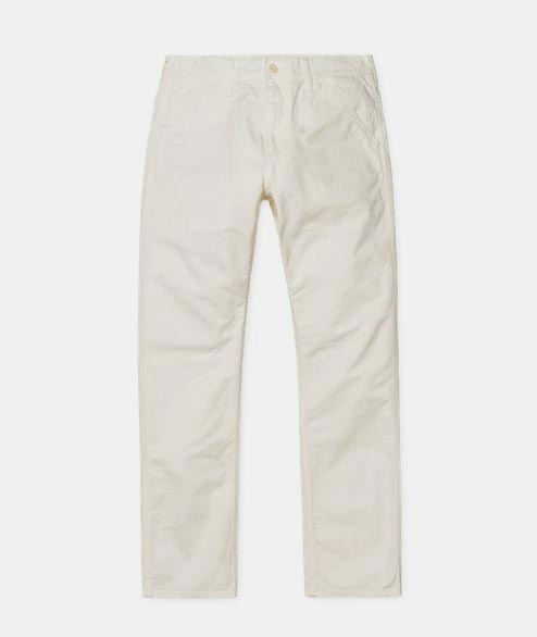 Carhartt WIP - Chalk Pant - Cotton Off White