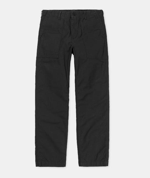 Carhartt WIP - Fatigue Pant - Black Stone Washed