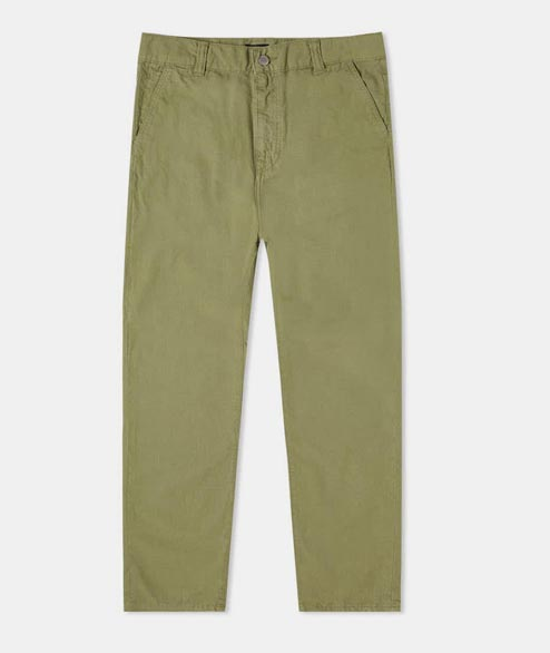 Edwin - Universe Pant - Military Green Cotton Ristop