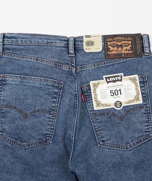 Levis Skate - 501 STF - Blue Rinsed