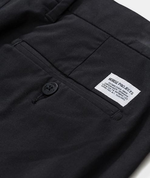 Norse Projects - Aros Slim Light Stretch - Black