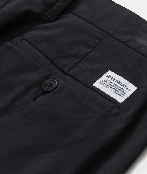 Norse Projects - Aros Slim Light Strech - Black