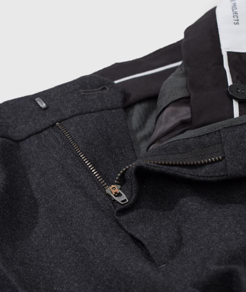 Norse Projects - Thomas Wool - Charcoal Melange