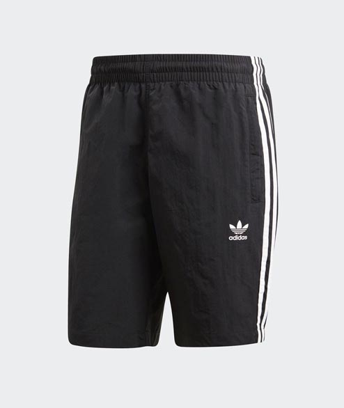 Adidas originals - 3 Stripoes Swim - Black