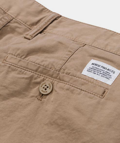 Norse Projects - Aros Light Twill Shorts - Utility Khaki