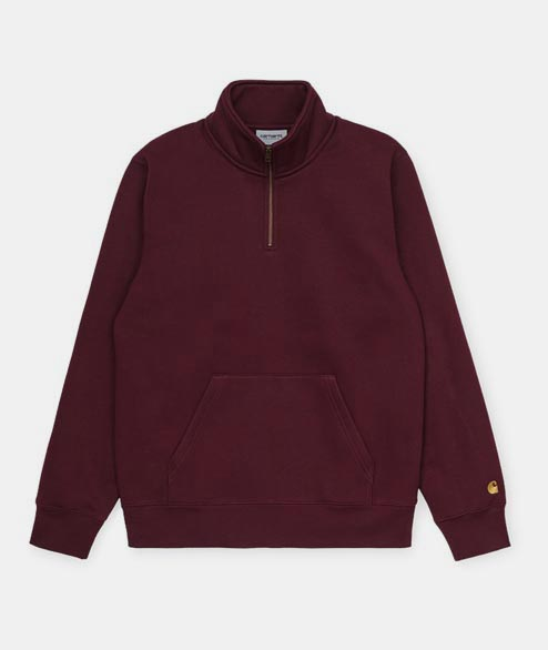 Carhartt WIP - Chase Neck Zip - Bourdeaux Gold