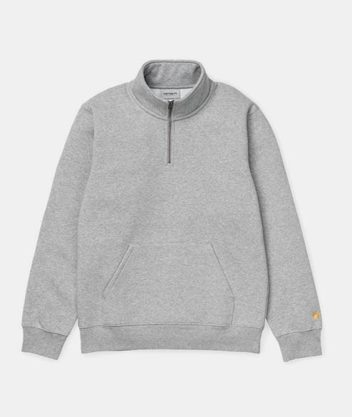 Carhartt WIP - Chase Neck Zip - Grey Heather Gold