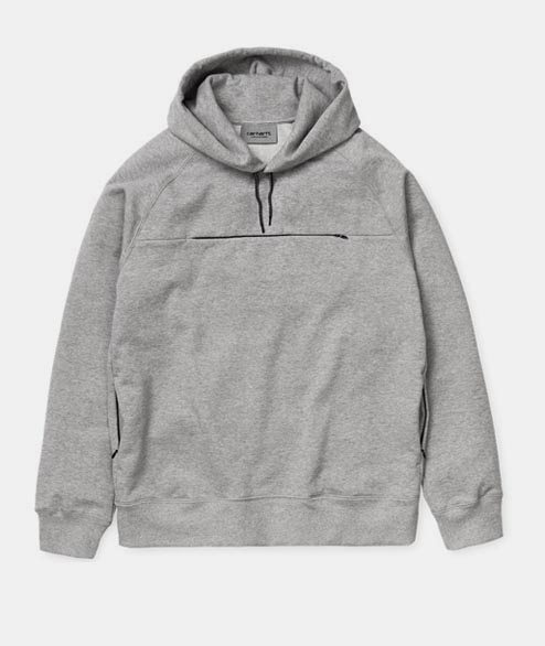 Carhartt WIP - Hooded Chrono Sweat - Grey Heather