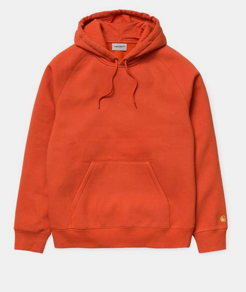 Carhartt WIP - Hooded Chase Sweat - Brick Orange Gold