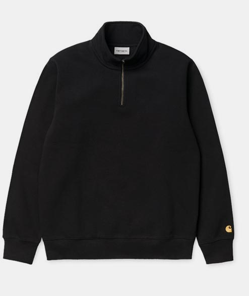 Carhartt WIP - Chase Neck Zip Sweat - Black Gold