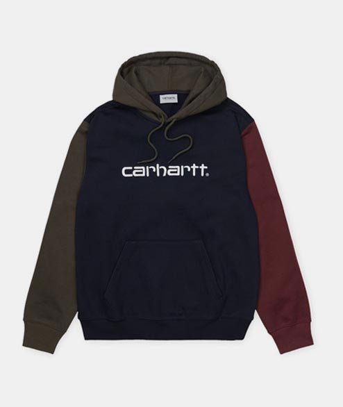 Carhartt WIP - Carhartt Hooded Tricol - Navy Tricolor