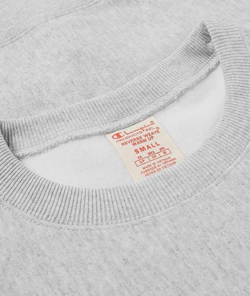 Champion - Script Logo Crewneck - Heather Grey