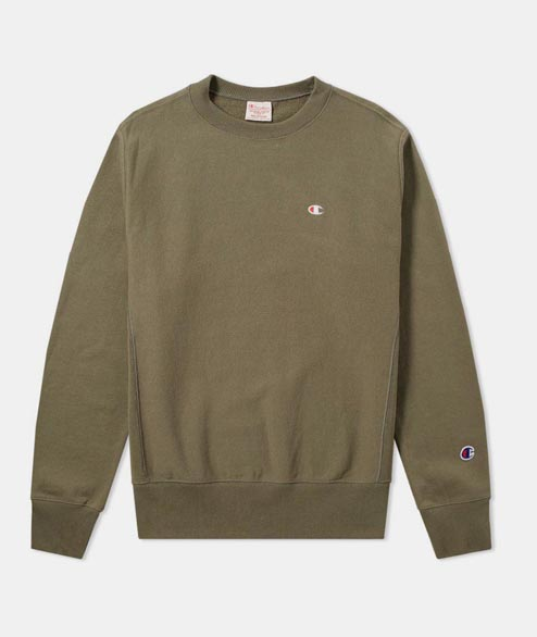 Champion - Reverse Weave Crewneck - Forest Green