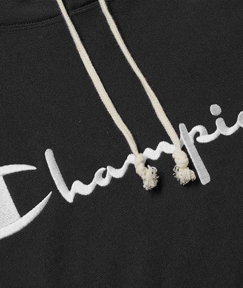 Champion - Hooded Sweatshirt Script - Black