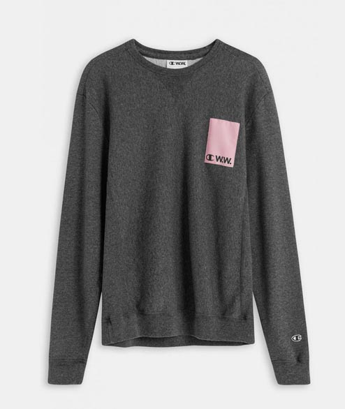Champion by Wood Wood - Hugo Sweatshirt - Black Melange
