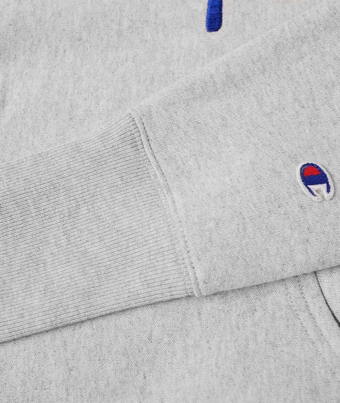 Champion - Hooded Sweatshirt Script - Grey
