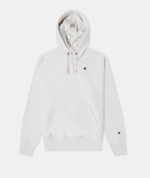 Champion - Logo Hooded Sweatshirt - White