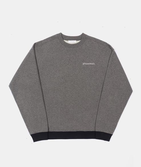 FUTUR - Pleasewait Crew - Dark Heather Grey