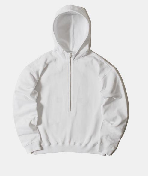 FUTUR - 3/4 F Hoodie - White Ox Red