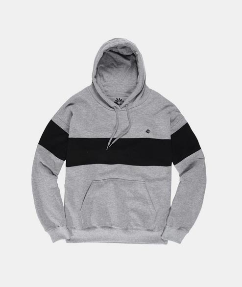 Magenta - Brode Hoodie - Heather Grey