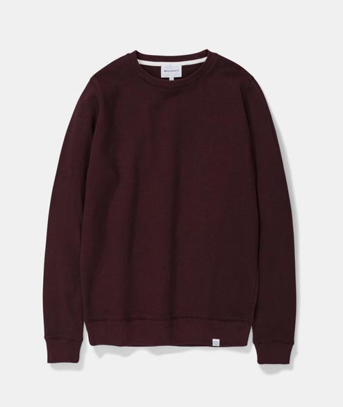 Norse Projects - Vagn Classic Crewneck - Eggplant Brown