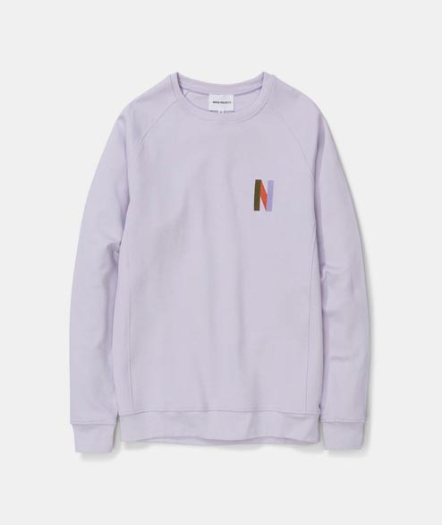 Norse Projects - Ketel Crew Multi N Logo - Heather