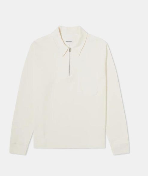 Norse Projects - Jorn Half Zip - Ecru