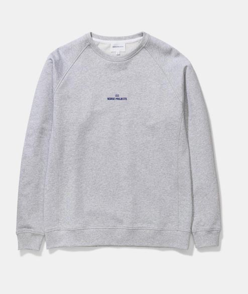 Norse Projects - Ketel Wave Logo - Light Grey Melange