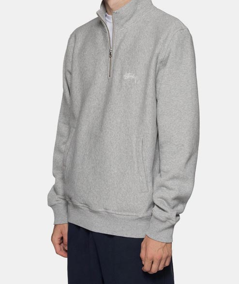 Stussy - Stock Fleece Mock - Grey Heather