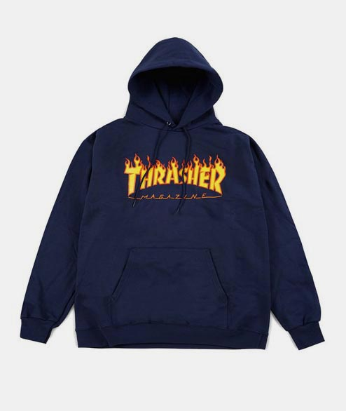 Thrasher - Flame Logo Hoodie - Navy