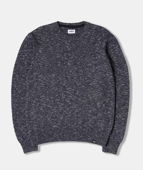 Edwin - Standard Sweater - Navy Flame