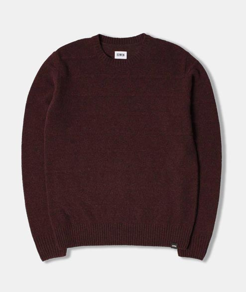 Edwin - Standard Fine Stripes Sweat - Cordovan