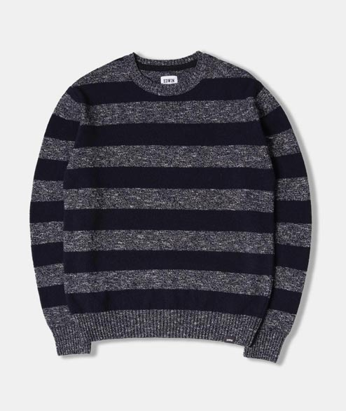 Edwin - Standard Stripes Sweater - Navy