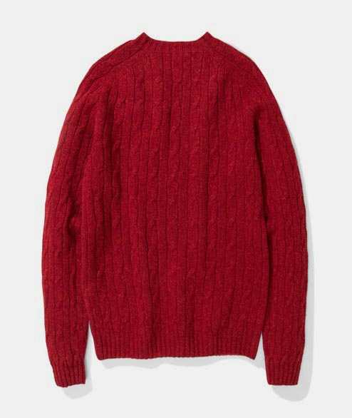 Norse Projects - Birnir Cable Lambswool - Cabin Red