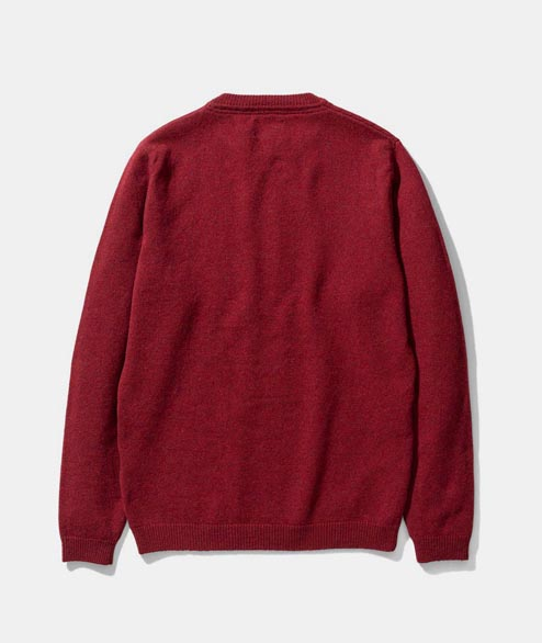 Norse Projects - Sigfred Lambswool - Carmine Red