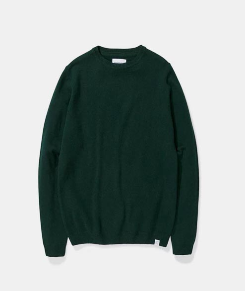 Norse Projects - Sigfred Lambswool - Quartz Green
