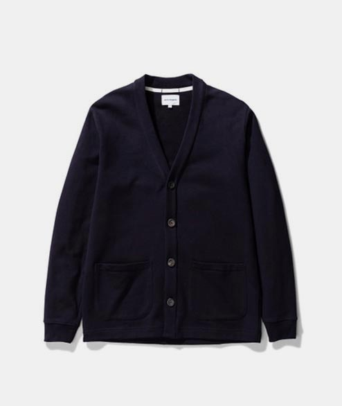 Norse Projects - Vidar Sweat Cardigan - Dark Navy