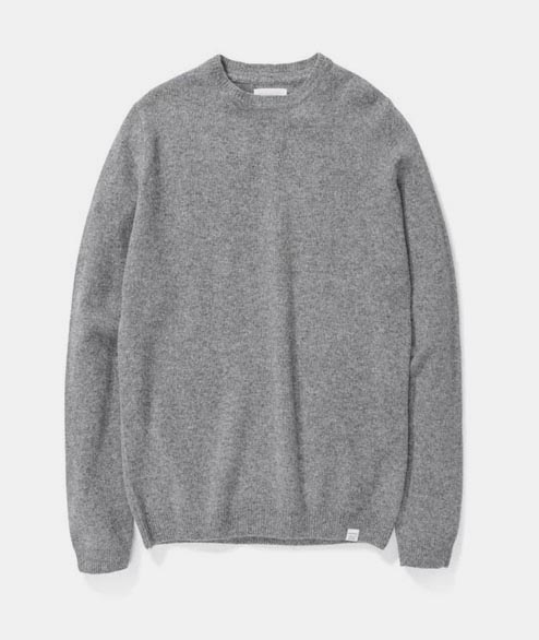 Norse Projects - Sigfred Lambswool - Light Grey Melange