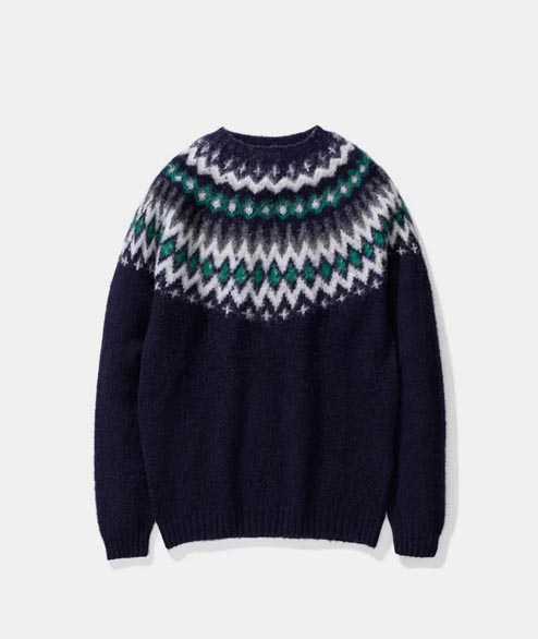 Norse Projects - Birnir Fairisle Sweater - Dark Navy