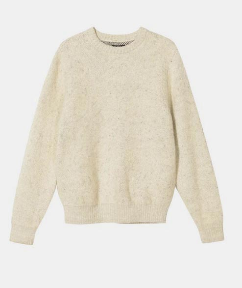 Stussy - 8 Ball Heavy Brushed Sweater - Natural