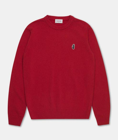 Wood Wood - Yale Sweater - Red