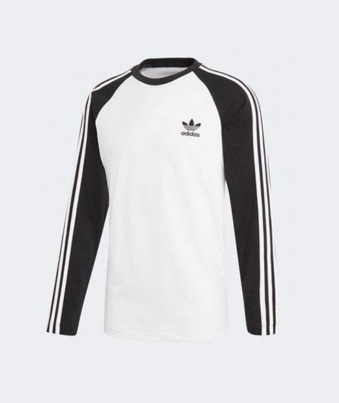 Adidas originals - 3 Stripes LS T - Black