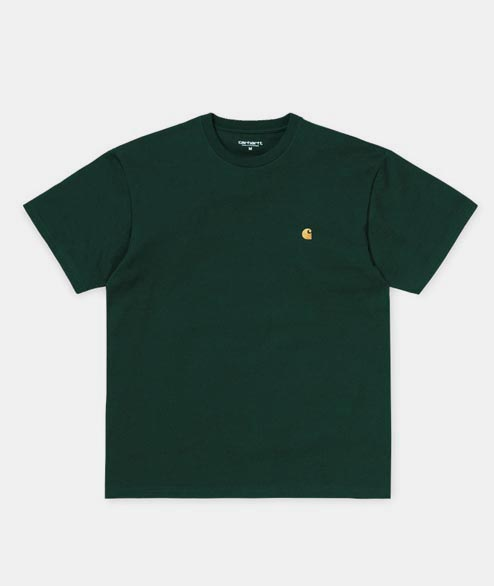 Carhartt WIP - Chase T Shirt - Dark Fir Gold