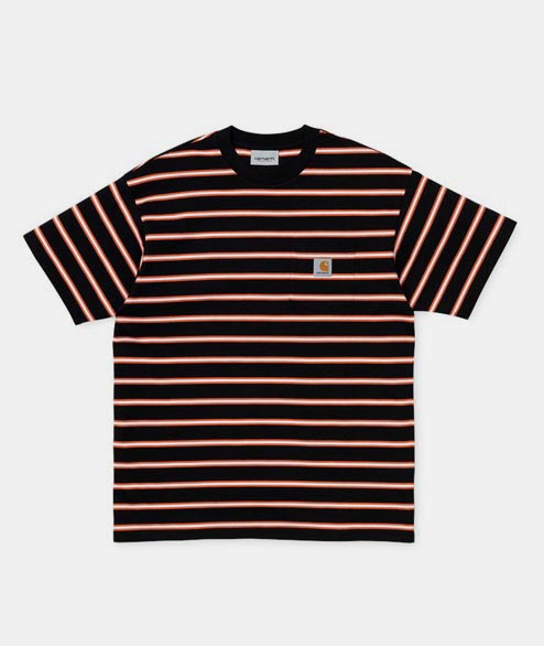 Carhartt WIP - Houston Pocket Tee - Black Striped