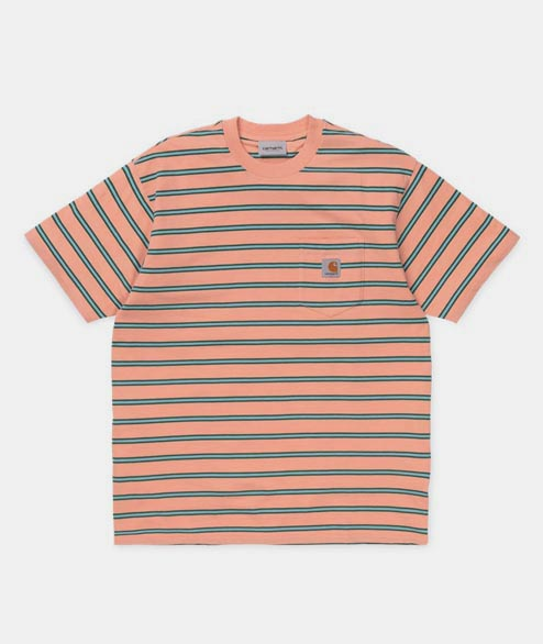Carhartt WIP - Houston Pocket Tee - Peach Striped