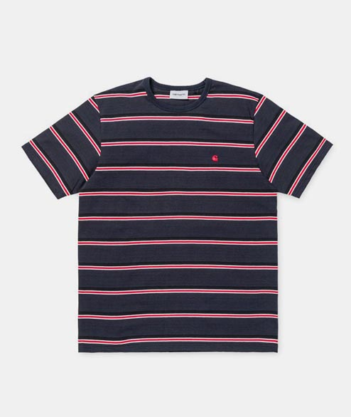 Carhartt WIP - Hill Tee - Dark Navy Stripe