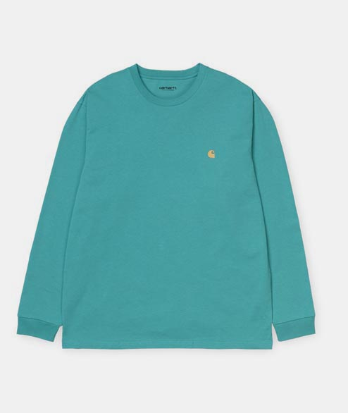 Carhartt WIP - Long Sleeve Chase Tee - Turquoise