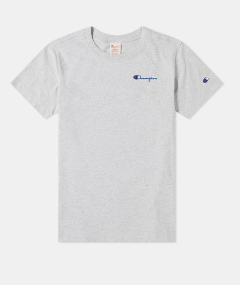 Champion - Script Logo Tee - Heather Grey