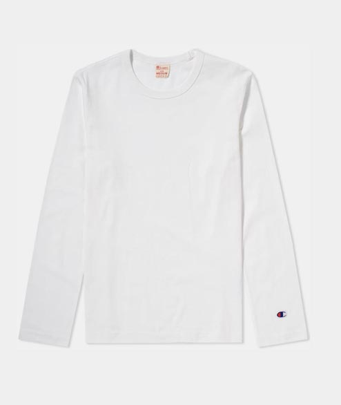 Champion - Reverse Weave Long Sleeve T Shirt - White