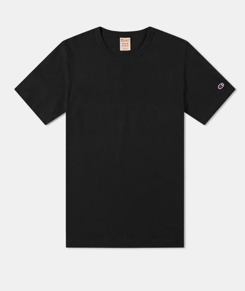 Champion - Sleeve Logo Tee - Black